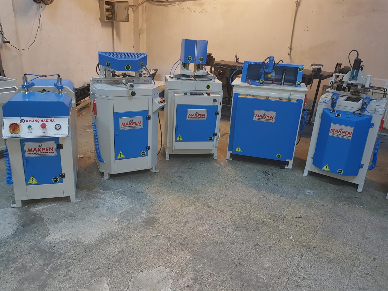 5 PIECE TEAM PVC PROCESSING MACHINES
